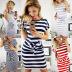 fashion slim waist slim round neck striped belt dress NSYF2828