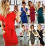Fashion Lace Round Neck Dress NSYF2842