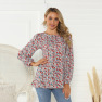 Loose Round Neck Printing Long-sleeved T-shirt  NSAL2883