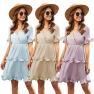 Spring And Summer Women S Cake Fold Dress  NSAL2913