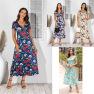 Printed Dress Cross-length Skirt NSAL2928