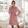 Solid Color Petal Sleeve Large Skirt Slim Dress NSAL2100