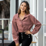 Autumn And Winter New Women's Solid Color Lapel Button Cardigan Jacket NSAL2130