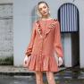 Casual Women's Loose Long-sleeved Dresses NSAL2136