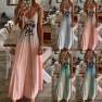 Slim Thin Letter Printing Long Dress NSYF2181