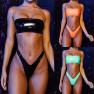 Hot Swimwear Bright Leather Bikini Tube Top Swimsuit NSDA2187
