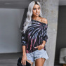 Women Long-sleeved Autumn New Style Tie-dye Casual Round Neck Pullover Sweater  NSSI2389