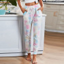 Women's Cropped Trousers New Gradient Color Printing Slim Women's Overalls  NSSI2407