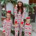 Christmas elk print casual pajamas parent-child set NSKX7785