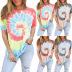 women's casual round neck printed T-shirt NSKX8453