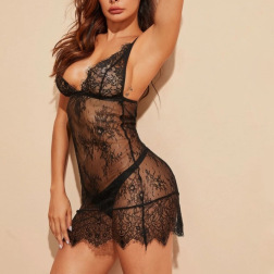 Sexy Lace Perspective Strap Tight-fitting Lingerie  NSYO9756