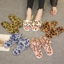 Women's Leopard Print Plush Slippers  NSPE10031