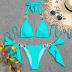 solid color sapphire crystal chain sexy halter bikini NSZO10227