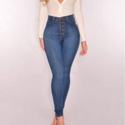 Autumn High Waist Sexy Stretch Slim Jeans NSYF12453