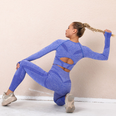 Seamless Knitted Yoga Four-piece Suit NSLX18350