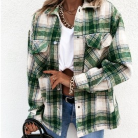 Autumn And Winter Long-sleeved Plaid Jacket  NSYD15122