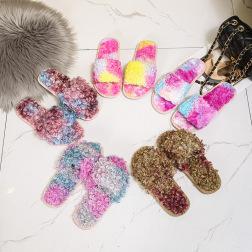 Non-slip Lamb Wool Flat-bottomed Slippers   NSPE21974