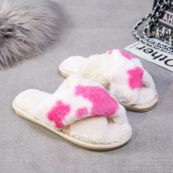 Fashion Rabbit Fur Cotton Slippers NSPE21976