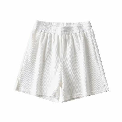 Side Slit Elastic Waist Sports Shorts  NSHS23452