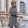 Hot Sale Collar Waist Slimming Sleeveless Dress Wholesale NHDF22