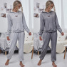 Autumn New Fashion Casual Hooded Loose Sports Casual Suit Sweater Two-piece Suit NHDF92