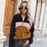 Winter Women's New Tops Lapel Plush Sweater Women NSKA188