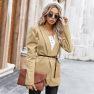 Autumn Women's New Tops Bursts With Puff Sleeve Suit Jacket Wholesale NSKA189