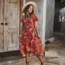 Women's 2020 Temperament Print Dress Long Dress Women NSKA264