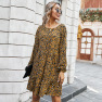 Women' New Autumn Store Hot Style Sexy Leopard Print Dress WHOLESALE NSKA276