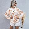 Women's Digital Printing Fresh Pullover Long-sleeved Tie-dye Sweater  NSDF331