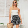 Summer New All-match Fashion Sweet Black Floral Half-length Shorts Skirt Wholesale NSDF416