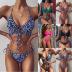 ladies split swimsuit hot sale printed bikini swimsuit NSDA481