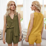 Summer New Style Hot Selling Fashion Casual Suit Single-breasted Vest Top Casual Shorts Suit NSDF503