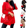 Autumn New Fashion Women S Double-breasted Suit Jacket  NSYF831