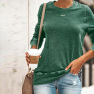 New Long-sleeved Casual Sweater Top T-shirt NSYF836