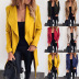 autumn and winter new fashion lace lapel woolen coat  NSYF853