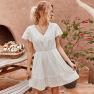 Fashion Women's Mid-length Loophole Dress Wholesale NSKA989