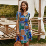 Spring And Summer Women's Casual Breathable Dress NSKA1038