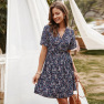 Floral Skirt Spring And Summer Style Mid-length Dress NSKA1044