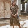 Fashion Women's Leopard Print Dress Stand-alone Summer Dress NSKA1049