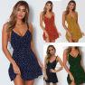 Summer Hot Sale Polka Dot Print Sexy Fashion Sling Dress NSYF1125