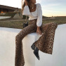 Autumn Women S New Leopard Print Horn Ladies Sweatpants NSYF1152