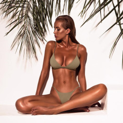 New Sexy Swimsuit Ladies Split Solid Color Bikini NSDA1244