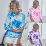 Hot Style Printed Tie-dye Sweater Women S Long-sleeved Round Neck Pullover Sweater NSDF1284
