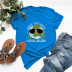 hot print comfortable casual pure cotton short-sleeved women's T-shirt NSSN1456