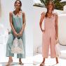 Spring/Summer New Fashion Women's Workwear Sling Jumpsuit NSDF1481