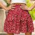 hot high-waist ruffled small floral love skirt beach skirt NSDF1487
