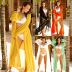 sexy solid color chiffon V-neck big swing dress  NSDF1495