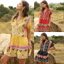 Casual Student One-piece Fashion Loose Printed Jumpsuit NSDF1597
