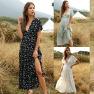 Hot Selling Women's Ruffled Floral V-neck Dress NSDF1598
